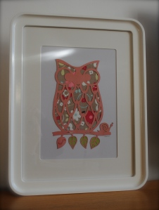 You could be in with a chance of winning an unframed A4 papercut owl, personalised to your specifications1