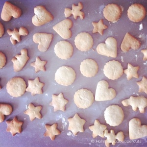 A simple biscuit recipe, homemade and ready to be jazzed up with icing and sprinkles. Hours of fun. And mess!