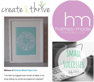 I got a mention on Create and Thrive - yeay!