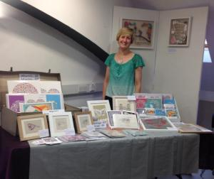 Manning my stall – a rare quiet moment!
