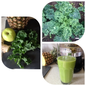 Kale... From my veg patch to my green juice!