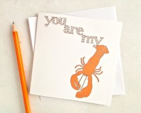 You Are My Lobster card