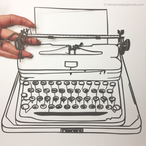 Typewriter in progress_HolmesMadePapercuts