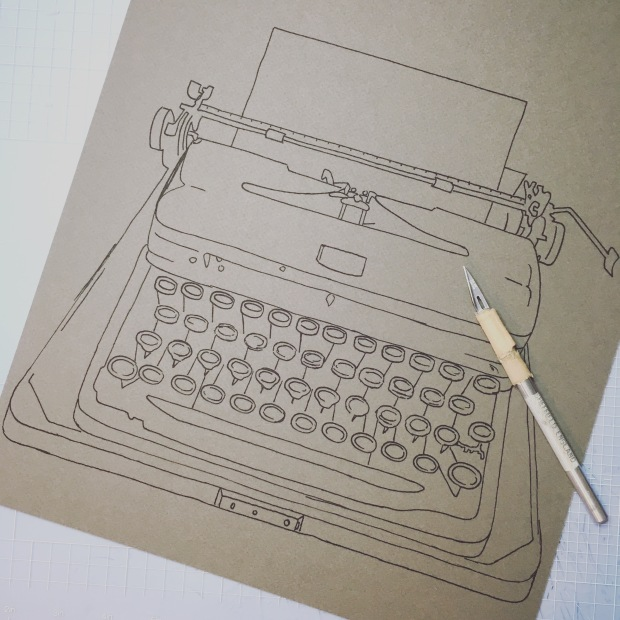 Vintage Typewriter Drawing_HolmesMade