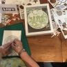 Working on a papercut during a workshop